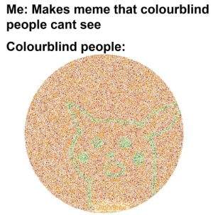 Meme, People, and  See: Me: Makes meme that colourblind  people cant see  Colourblind people: .