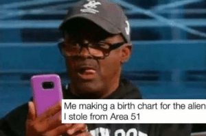 Reddit, Alien, and Area 51: Me making a birth chart for the alien  I stole from Area 51 keeping track my Alien's birth