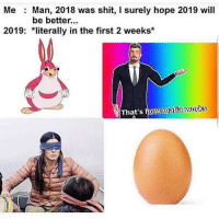 Memes, Shit, and Http: Me  Man, 2018 was shit, I surely hope 2019 will  be better..  2019: *literally in the first 2 weeks*  That's how mafiaworks Every year it gets worse via /r/memes http://bit.ly/2swqNsv