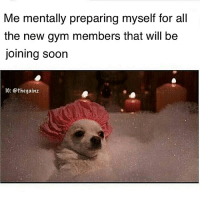 🛀 Royal Rumble typa shit: Me mentally preparing myself for all  the new gym members that will be  joining soon  IG: @thegainz 🛀 Royal Rumble typa shit