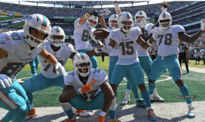 Costume of the year! The Miami Dolphins dressed up as an NFL football team for Halloween https://t.co/xcpmYgGQ1x: Me  MIAS  Doline  78  Dolphins  15  Dofphins  @NFL MEMES Costume of the year! The Miami Dolphins dressed up as an NFL football team for Halloween https://t.co/xcpmYgGQ1x