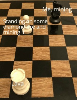 More of the best memes at http://mountainmemes.tumblr.com: Me, mining  Standing on some  diamond re and  mining it  Lava More of the best memes at http://mountainmemes.tumblr.com