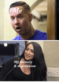 Memes, Anxiety, and Depression: Me  My anxiety  & depression Who sent you #JSFamilyVacation https://t.co/BvMtnKkN3Z