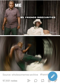ME  MY FRIENDS INSECURITIES  Source: wholesomemes-archive #hanni  97,931 notes A wholesome meme