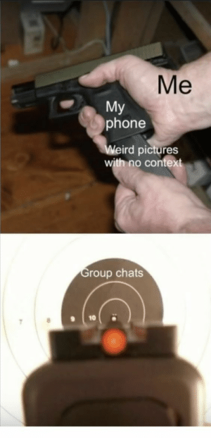 Phone, Pictures, and Pictures With: Me  My  phone  eird pictures  with no contex  roup chats  10