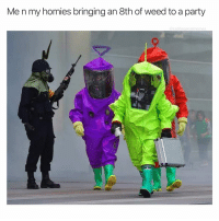 Party, Weed, and Cool: Me n my homies bringing an 8th of weed to a party  cabbagecatmemes Cool kids have arrived , step aside