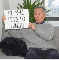 Click, Memes, and New York: ME-N- U  LETS DO  LUNCH! I want to take YOU out for lunch with me in New York, flights and hotel covered! It's going to be a gouda time, so click the link in my bio or go to omaze.com-george for your chance to WIN. All entries support the work of United We Dream, a great cause that helps protect and support immigrants. @omazeworld