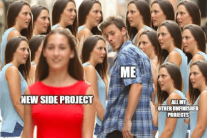 meirl: ME  NEW SIDE PROJECT  ALL MY  OTHER UNFINISHED  PROJECTS meirl