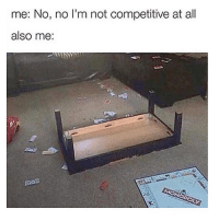 Memes, Monopoly, and 🤖: me: No, no I'm not competitive at all  also me: If your night of Monopoly doesn't end like this. You didnt read the rules...