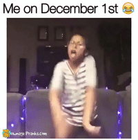 Dude, this girl is PUMPED lol  Like our page for MORE funny videos! => OwnagePranks: Me on December 1st  ownage Pranks com Dude, this girl is PUMPED lol  Like our page for MORE funny videos! => OwnagePranks