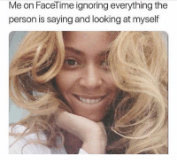 Apple, Facetime, and Selfie: Me on FaceTime ignoring everything the  person is saying and looking at myself Honestly, how many letters do I need to write to Apple before they make my selfie screen bigger?