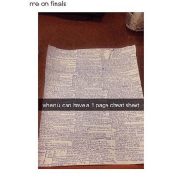 Cheating, Memes, and 🤖: me on finals  when u can have a 1 page cheat sheet ••• 📚 Follow @studenthacks for more! Tag friends