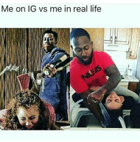 Life, Memes, and 🤖: Me on IG vs me in real life Don't let my gram fool you I'm a gentleman..😎😉😂