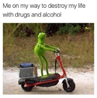 Me on my way to destroy my life  with drugs and alcohol  dabmoms @cabbagecatmemes is one of the best original meme makers to ever make a meme