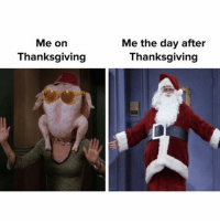 accurate: Me on  Thanksgiving  Me the day after  Thanksgiving accurate