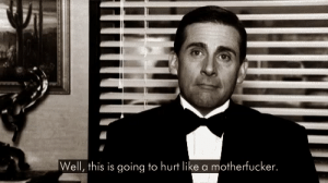 Me on the last episode of the office after binge watching the whole series within a week: Me on the last episode of the office after binge watching the whole series within a week