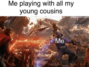 Love, Tumblr, and Blog: Me playing with all my  young cousins  u/SquareForce awesomacious:  Love them so much