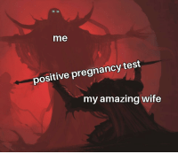Guess whos gonna be a father!: me  positive pregnancy test  my amazing wife Guess whos gonna be a father!