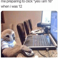 """Click, Funny, and Animal: me  preparing  to  click  """"yes  i  am  18  when i was 12 30 Funny Animal Photos You Really Just Need To See For Yourself"""