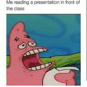 Tumblr, Http, and Com: Me reading a presentation in front of  the class Follow us @studentlifeproblems