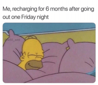 Friday, Lmao, and Memes: Me, recharging for 6 months after going  out one Friday night  will ent Lmao