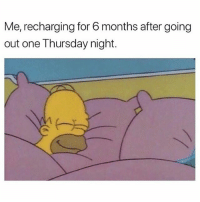 Girl Memes, One, and Still: Me, recharging for 6 months after going  out one Thursday night. It's Tuesday and I am still not fully healed from the events of Thursday evening...