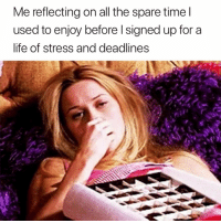 Life, All The, and Stress: Me reflecting on all the spare timel  used to enjoy before l signed up for a  life of stress and deadlines Those were the days 😅