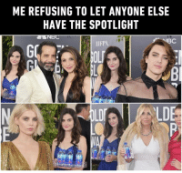 Water you looking at⠀ goldenglobes fijiwatergirl 9gag photobombing: ME REFUSING TO LET ANYONE ELSE  HAVE THE SPOTLIGHT  ANBC  IBC  HFPA  LDI  LDE Water you looking at⠀ goldenglobes fijiwatergirl 9gag photobombing