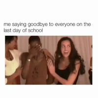 I've been so busy lately omg: me saying goodbye to everyone on the  last day of school I've been so busy lately omg