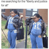 """Memes, Justice, and Justice for All: me searching for the """"liberty and justice  for all""""  RX Where they at though?? 🤔👓🔍 ・・・ 👀👀👀 repost: @amordechicano"""