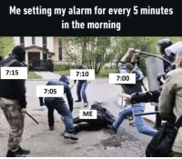 Sorry, I can't feel it over all this snoozing I'm doing.https://9gag.com/tag/morning?ref=fbpic: Me setting my alarm for every 5 minutes  in the morning  7:15  7:10  7:00  7:05  ME Sorry, I can't feel it over all this snoozing I'm doing.https://9gag.com/tag/morning?ref=fbpic