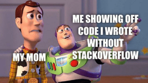 That's very nice dear. I'm so proud of you.: ME SHOWING OFF  CODE I WROTE  WITHOUT  STACKOVERFLOW  MYMOM  SPECT LIG That's very nice dear. I'm so proud of you.