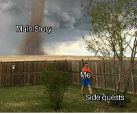Memes, Farming, and 🤖: Me  Side quests Me farming thralls in D1 instead of raiding