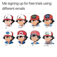 Anime, Love, and Memes: Me signing up for free trials using  different emails  AG  ㄨㄚ If you love anime you're going to love @animes 😂