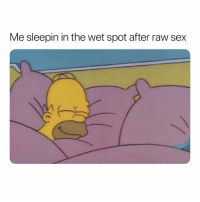 Love, Sex, and Dank Memes: Me sleepin in the wet spot after raw sex I Love it
