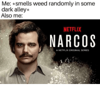 Me *Smells Weed Randomly in Some Dark Alley* Also Me NETFLIX NARCOS