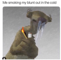 Instagram, Memes, and Smoking: Me smoking my blunt out in the cold Request @couplesnote for more 18+ sexual memes on instagram😘💦👅