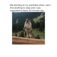 Struggle, The Struggle Is Real, and Real: Me standing at my wardrobe when I can't  find anything to wear and I was  supposed to leave 20 minutes ago The struggle is real