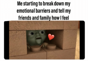 https://t.co/7F5u6O4DqB: Me starting to break down my  emotional barriers and tell my  friends and family how I feel https://t.co/7F5u6O4DqB