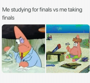 Follow us @studentlifeproblems​: Me studying for finals vs me taking  finals Follow us @studentlifeproblems​