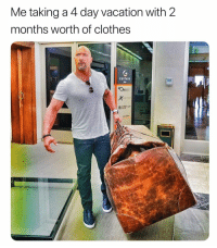 """Clothes, Shit, and Vacation: Me taking a 4 day vacation with 2  months worth of clothes  GESTAIR  UNITEO """"Maybe I'll shit myself 8 times a day"""""""