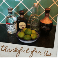"""People on FB are doing these """"thankful for us"""" profile photos and I didn't wanna be the odd gal out.   So here.: ME  TEQUILA  BLANCO  Do Julio  GENERACIONES People on FB are doing these """"thankful for us"""" profile photos and I didn't wanna be the odd gal out.   So here."""