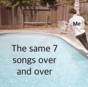 me irl: Me  The same 7  songs over  and over me irl