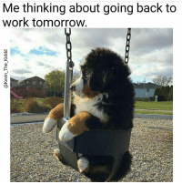 Memes, 🤖, and Back to Work Tomorrow: Me thinking about going back to  work tomorrow .