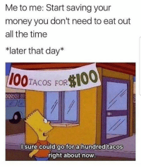 "Lmaoo 😂😂😂😂😂😂 🔥 Follow Us 👉 @latinoswithattitude 🔥 latinosbelike latinasbelike latinoproblems mexicansbelike mexican mexicanproblems hispanicsbelike hispanic hispanicproblems latina latinas latino latinos hispanicsbelike: Me to me: Start saving your  money you don't need to eat out  all the time  *later that day""  1O0TACOS FOR100  Id go for a hundred tacos  right about now  l sure cou Lmaoo 😂😂😂😂😂😂 🔥 Follow Us 👉 @latinoswithattitude 🔥 latinosbelike latinasbelike latinoproblems mexicansbelike mexican mexicanproblems hispanicsbelike hispanic hispanicproblems latina latinas latino latinos hispanicsbelike"