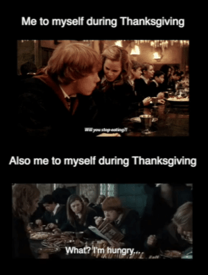 Hungry, Love, and Thanksgiving: Me to myself during Thanksgiving  Will you stop eating!  Also me to myself during Thanksgiving  What? I'm hungry.. A little self-loathing/self-love on Thanksgiving.
