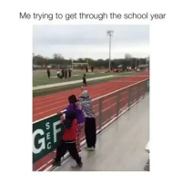 Memes, School, and 🤖: Me trying to get through the school year The second hurdle 😭😂