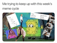 Love, Meme, and Twitter: Me trying to keep up with this week's  meme cycle  If you  don't love  me at my  then you don't  deserve  me at my What a week 😅(Twitter | salmattos)