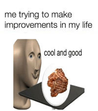 Life, Cool, and Good: me trying to make  improvements in my life  cool and good https://t.co/HkLRVrfTM7