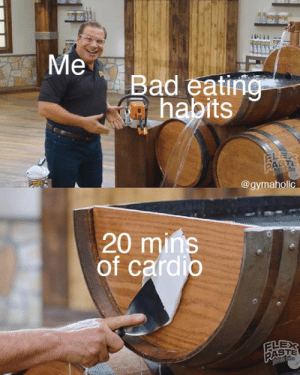Me vs. bad eating habits = 20 mins of cardio.  Gymaholic App: https://www.gymaholic.co  #fitness #motivation #meme #workout #gymaholic: Me vs. bad eating habits = 20 mins of cardio.  Gymaholic App: https://www.gymaholic.co  #fitness #motivation #meme #workout #gymaholic